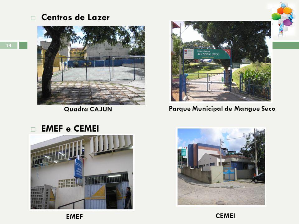 Equipamentos sociais: EMEF Izaura Marques da Silva; CME Infantil Maria Nazareth Menegueli; USF de Andorinhas; CAJUN de Andorinhas; Posto de disribuiçã
