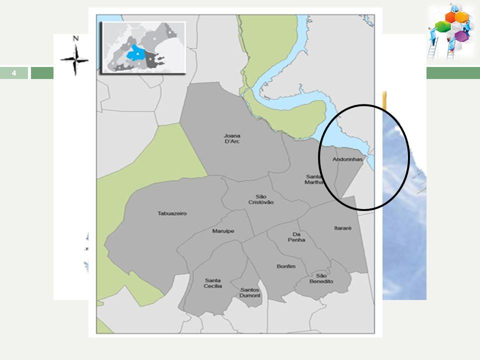 PERFIL GEOGRÁFICO Localização: Nordeste da ilha de Vitória; Norte com o canal da ponte da passagem; Oeste: bairros Santa Marta e Mangue Seco Leste: ba