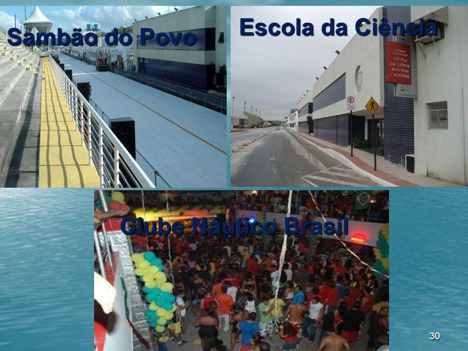 30 Clube Náutico Brasil Sambão do Povo Sambão do Povo Escola da Ciência