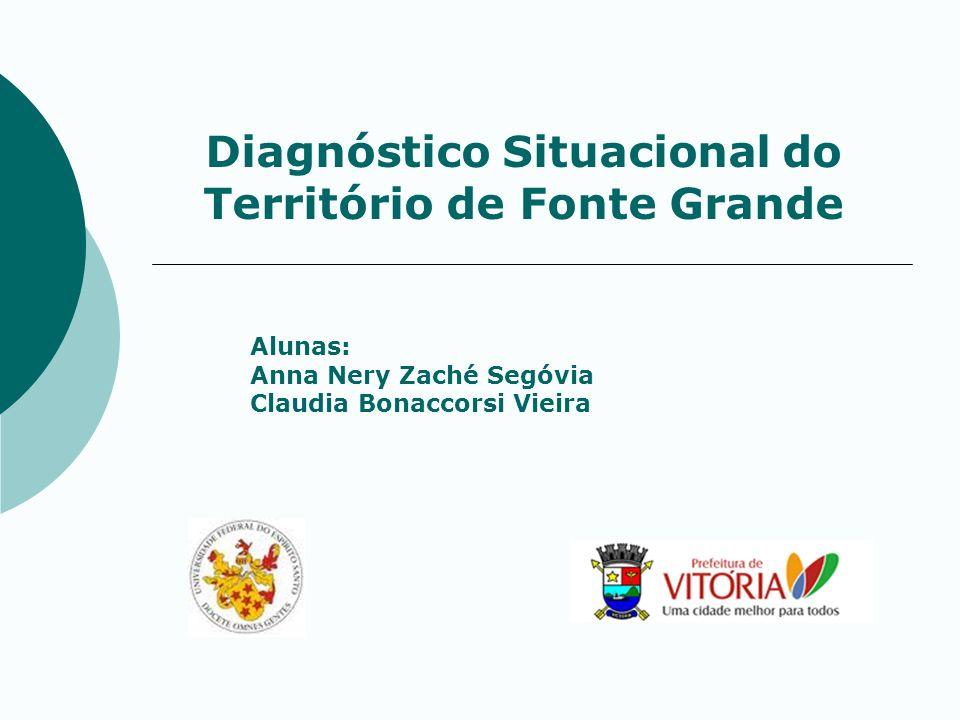 Diagnóstico Situacional do Território de Fonte Grande Alunas: Anna Nery Zaché Segóvia Claudia Bonaccorsi Vieira