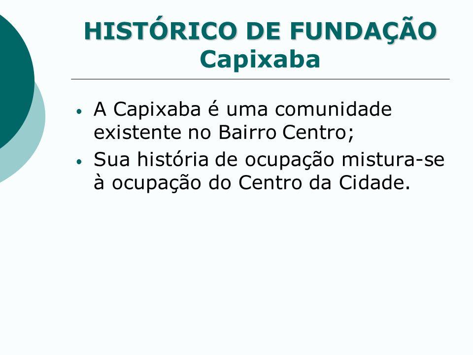 A Capixaba é uma comunidade existente no Bairro Centro; Sua história de ocupação mistura-se à ocupação do Centro da Cidade. HISTÓRICO DE FUNDAÇÃO HIST