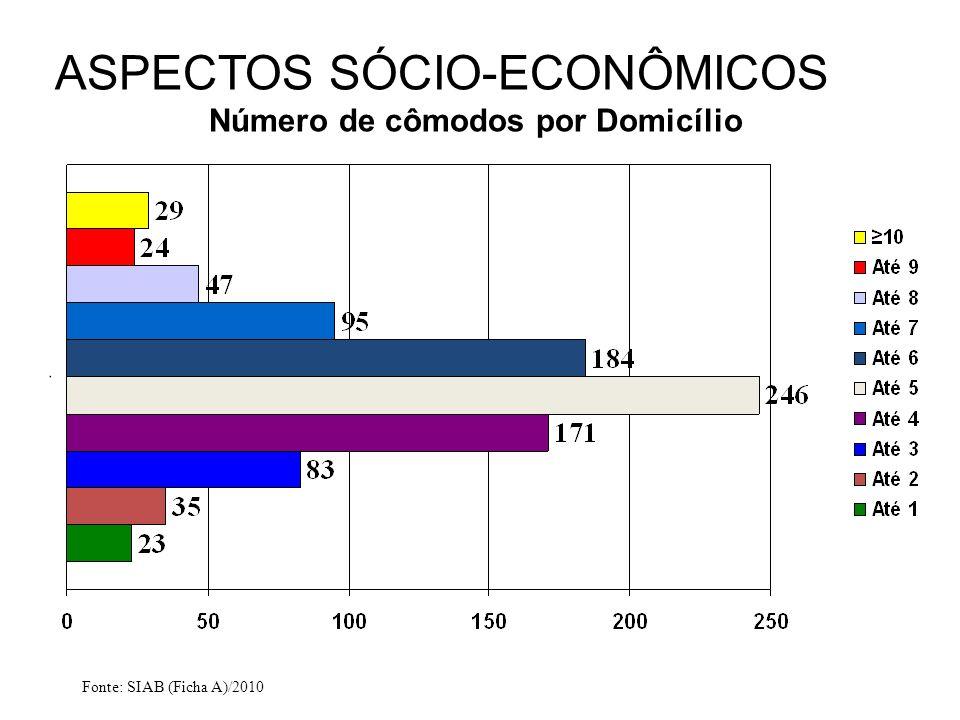 ASPECTOS SÓCIO-ECONÔMICOS Número de cômodos por Domicílio
