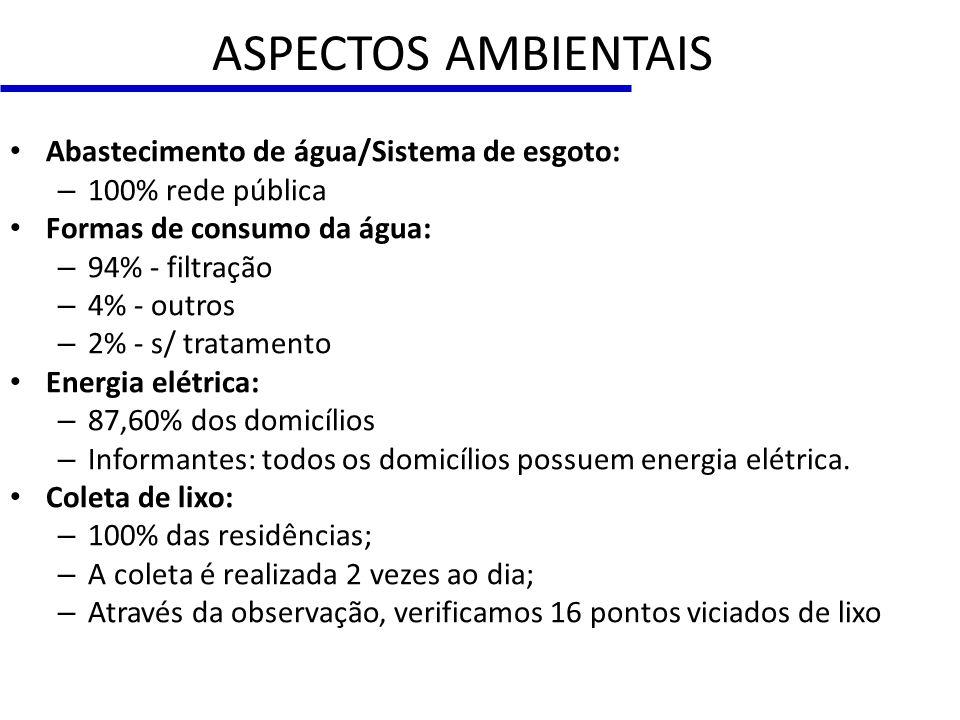 ASPECTOS SÓCIO-ECONÔMICOS Número de Pessoas por Domicílio Fonte: SIAB (Ficha A)/2010