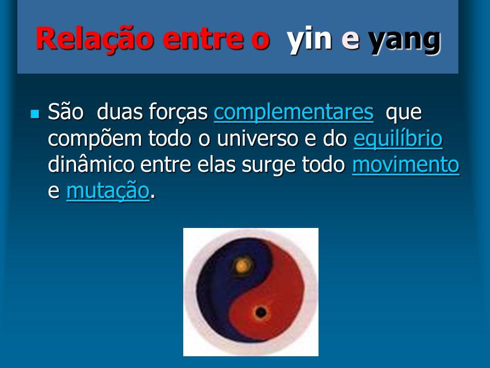São duas forças complementares que compõem todo o universo e do equilíbrio dinâmico entre elas surge todo movimento e mutação. São duas forças complem