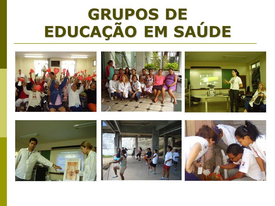 GRUPOS DE EDUCAÇÃO EM SAÚDE
