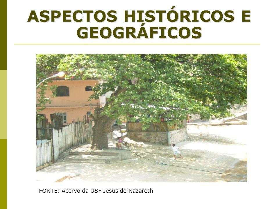ASPECTOS HISTÓRICOS E GEOGRÁFICOS FONTE: Acervo da USF Jesus de Nazareth