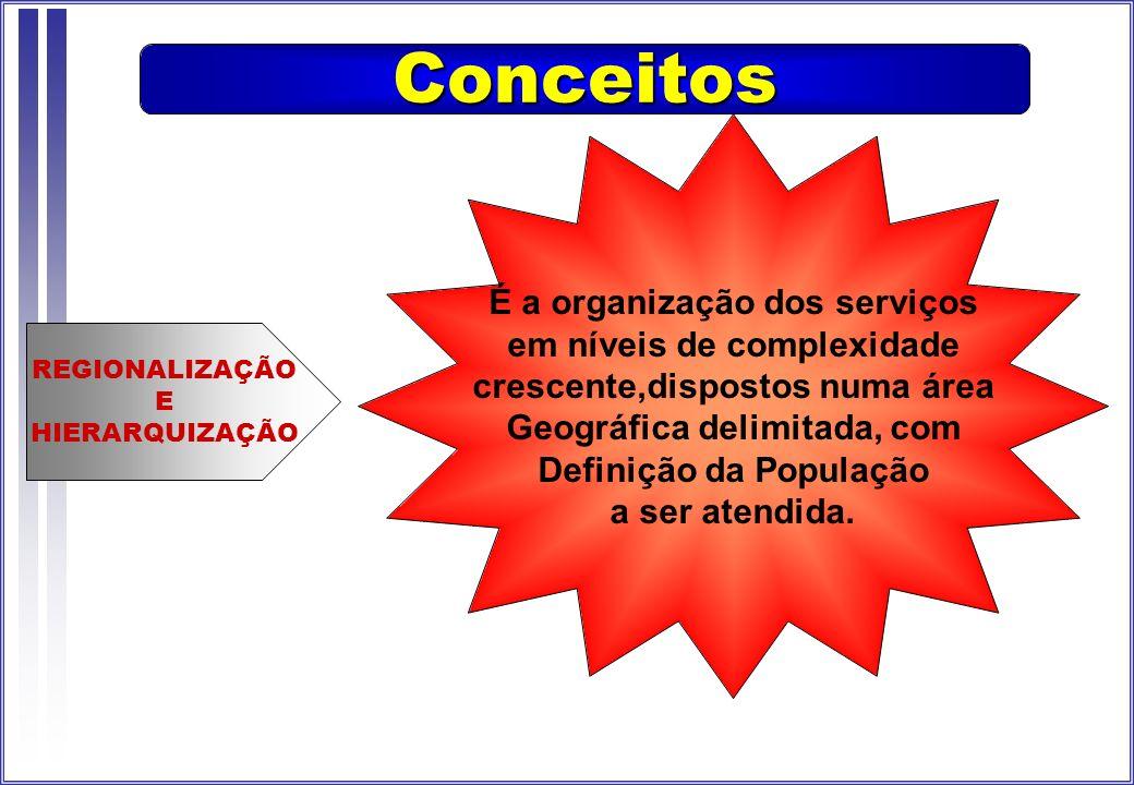 Estratégia prevista pela Legislação de Saúde para organizar E legitimar a gestão e o financiamento da rede de serviços ambulatoriais, Assistenciais, de referência e contra referência.