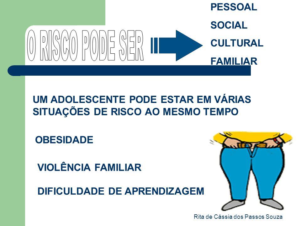 Rita de Cássia dos Passos Souza PESSOAL SOCIAL CULTURAL FAMILIAR UM ADOLESCENTE PODE ESTAR EM VÁRIAS SITUAÇÕES DE RISCO AO MESMO TEMPO OBESIDADE DIFIC