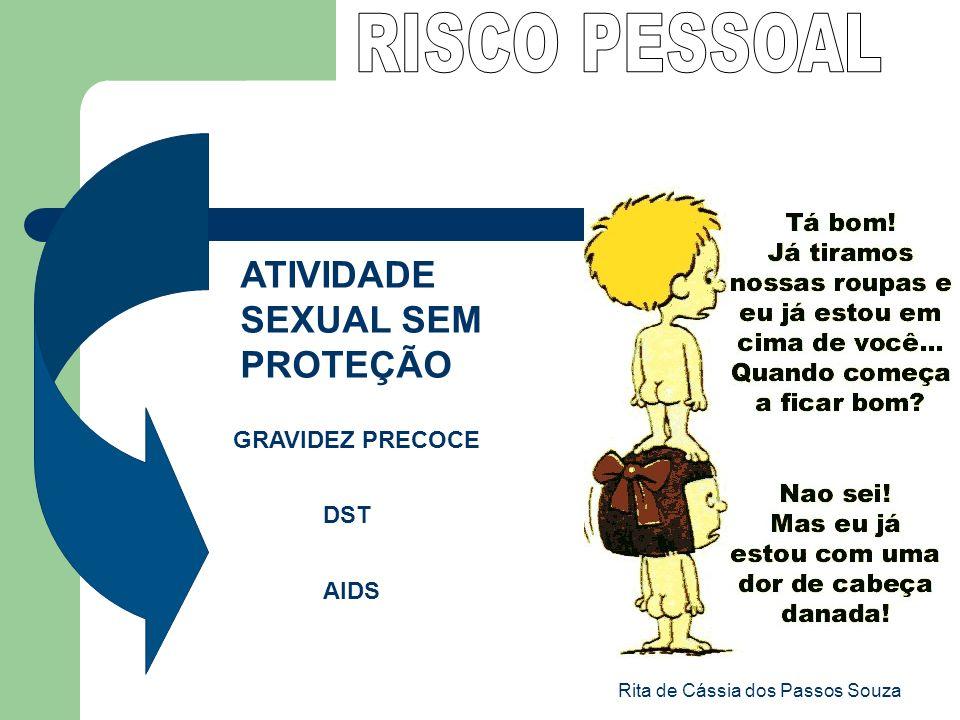 Rita de Cássia dos Passos Souza ATIVIDADE SEXUAL SEM PROTEÇÃO GRAVIDEZ PRECOCE DST AIDS