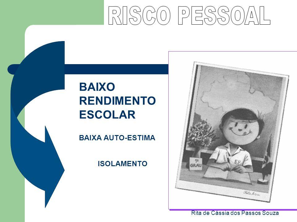 Rita de Cássia dos Passos Souza BAIXO RENDIMENTO ESCOLAR BAIXA AUTO-ESTIMA ISOLAMENTO