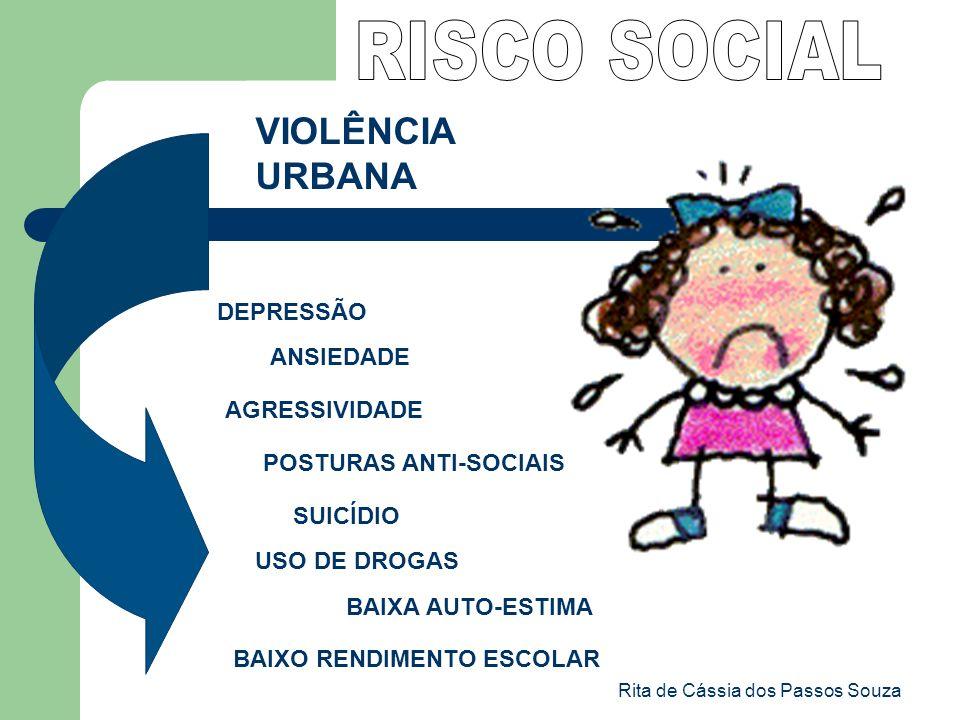 Rita de Cássia dos Passos Souza VIOLÊNCIA URBANA DEPRESSÃO ANSIEDADE AGRESSIVIDADE POSTURAS ANTI-SOCIAIS SUICÍDIO USO DE DROGAS BAIXO RENDIMENTO ESCOL
