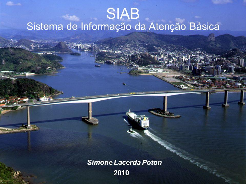 SIAB Sistema de Informação da Atenção Básica Simone Lacerda Poton 2010