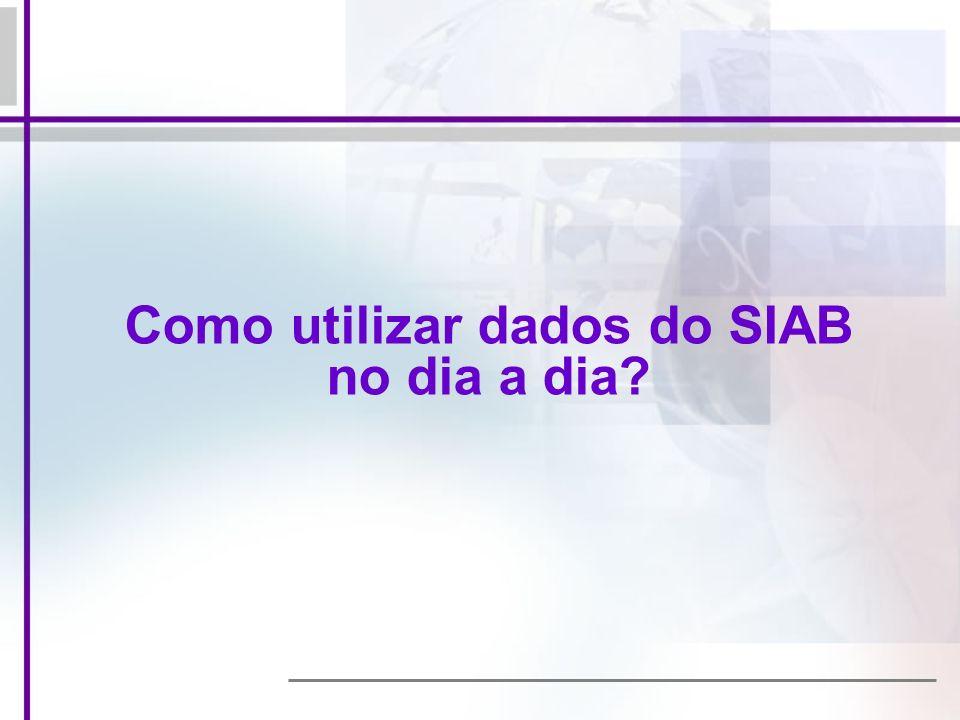 Como utilizar dados do SIAB no dia a dia?