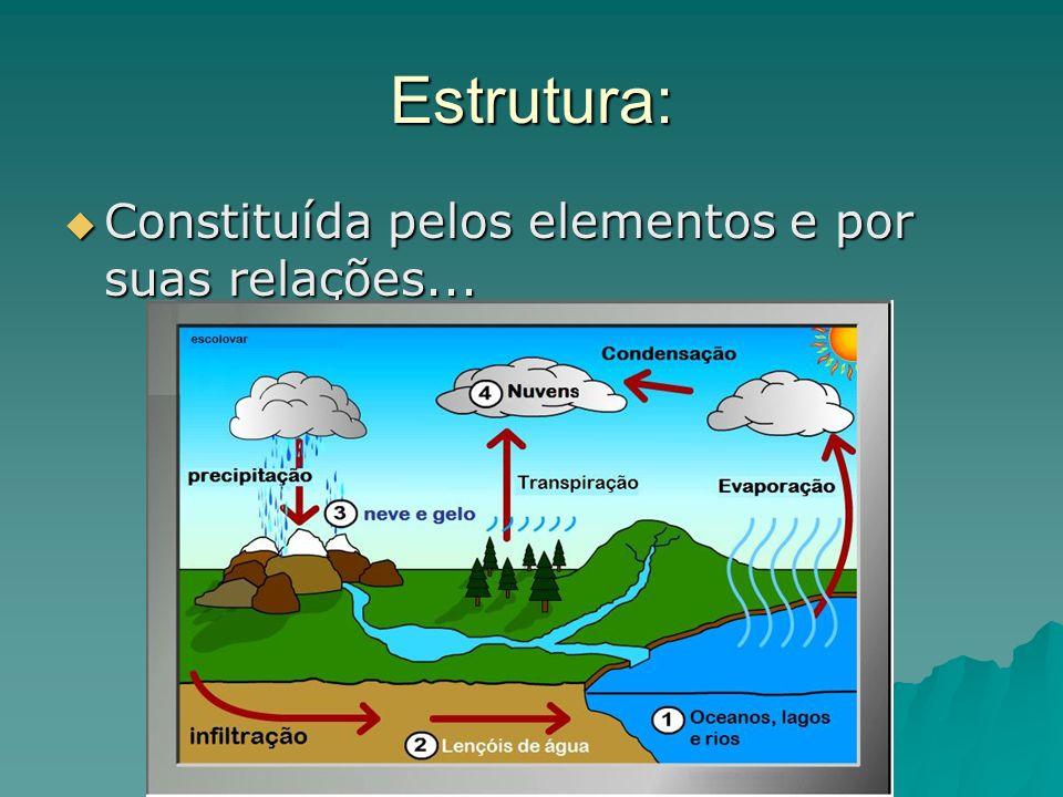 Estrutura: Constituída pelos elementos e por suas relações... Constituída pelos elementos e por suas relações...