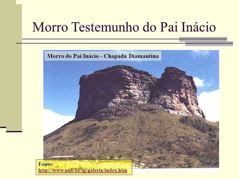 Fonte: http://www.unb.br/ig/galeria/index.htm Morro do Pai Inácio - Chapada Diamantina Morro Testemunho do Pai Inácio