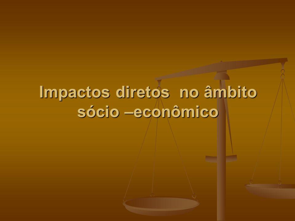 Impactos diretos no âmbito sócio –econômico