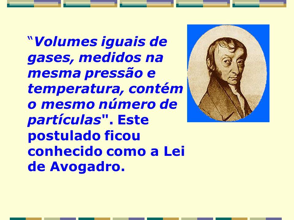 A Lei de Gay-Lussac exprimia apenas, resumidamente um conjunto de observações experimentais, até ser fundamentada pelo trabalho de Avogadro. Enunciado