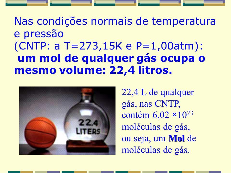 Ex.: O metano queima no oxigênio par dar os produtos usuais, CO 2 e H 2 O, de acordo com a equação: CH 4(g) + 2O 2(g) CO 2(g) + 2H 2 O (g) Se forem qu