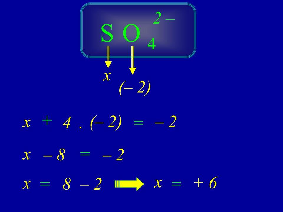 4ª REGRA A soma algébrica do Nox de todos os átomos em um íon é igual à CARGA DO ÍON