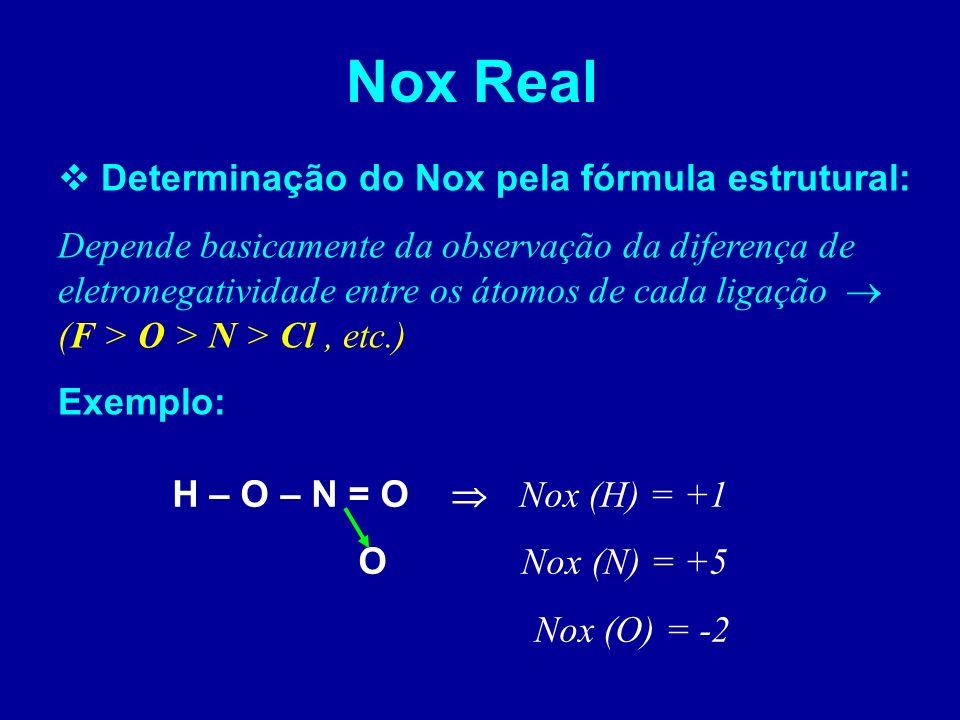 É a perda de elétrons ou aumento do Nox É o ganho de elétrons ou diminuição do Nox