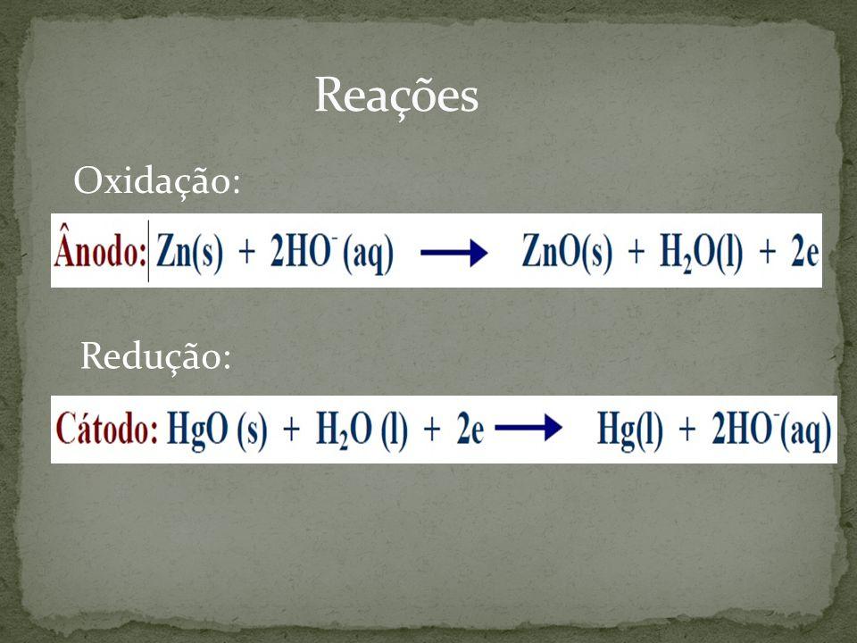 Oxidação: Redução:
