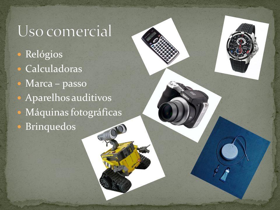 Relógios Calculadoras Marca – passo Aparelhos auditivos Máquinas fotográficas Brinquedos