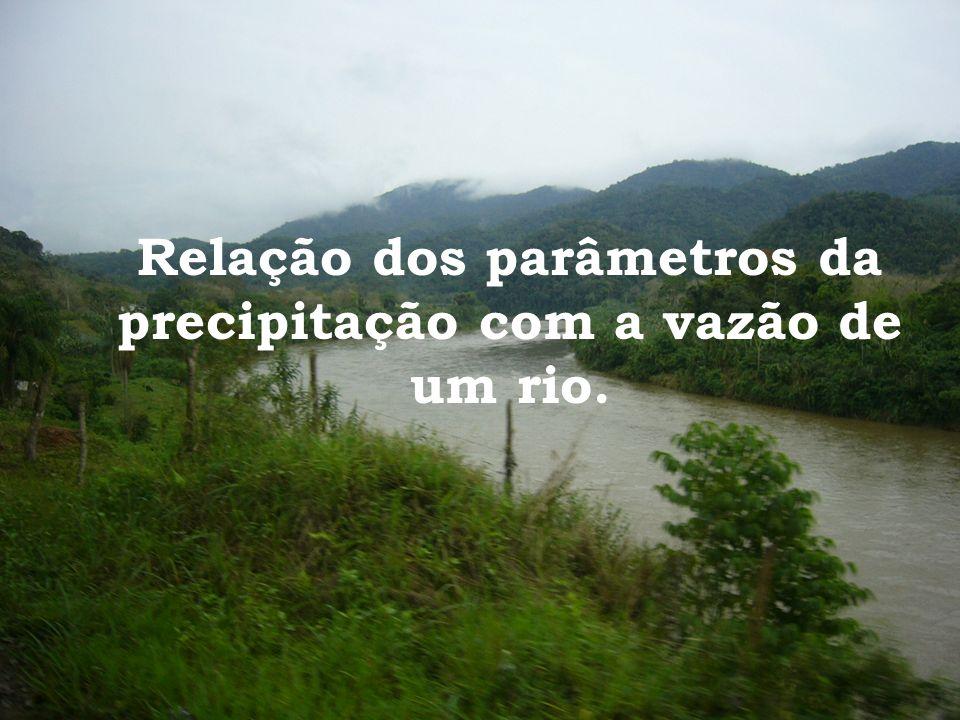 Relação dos parâmetros da precipitação com a vazão de um rio.
