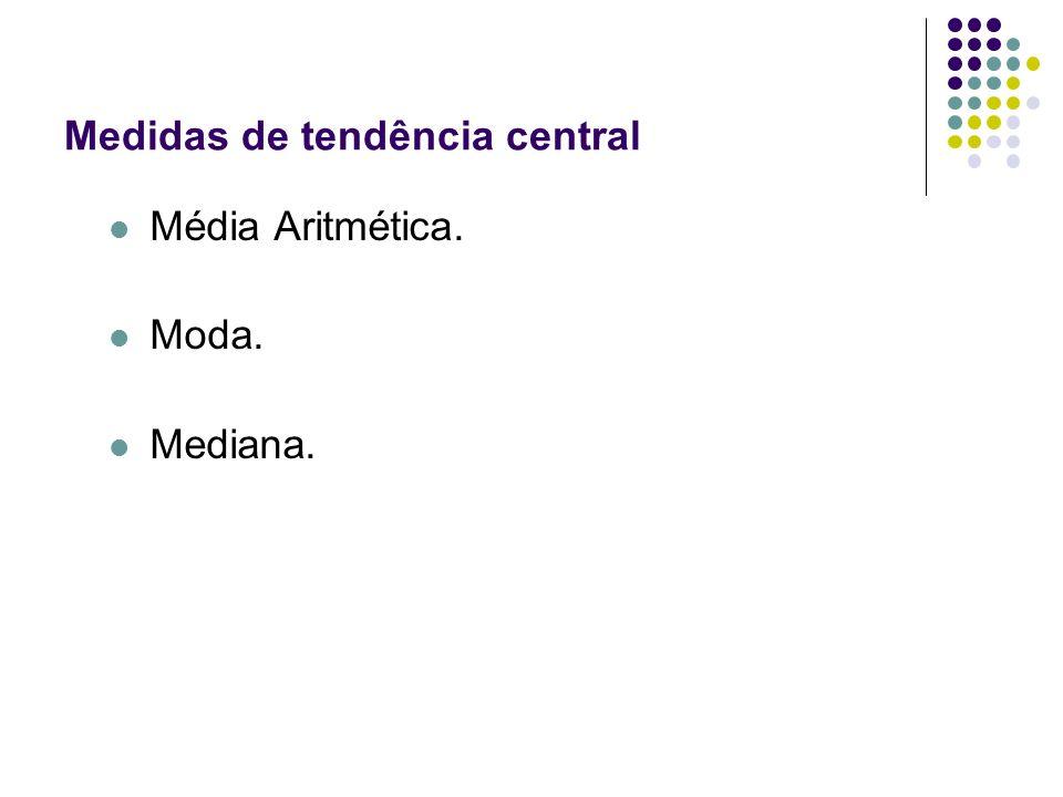 Medidas de tendência central Média Aritmética. Moda. Mediana.