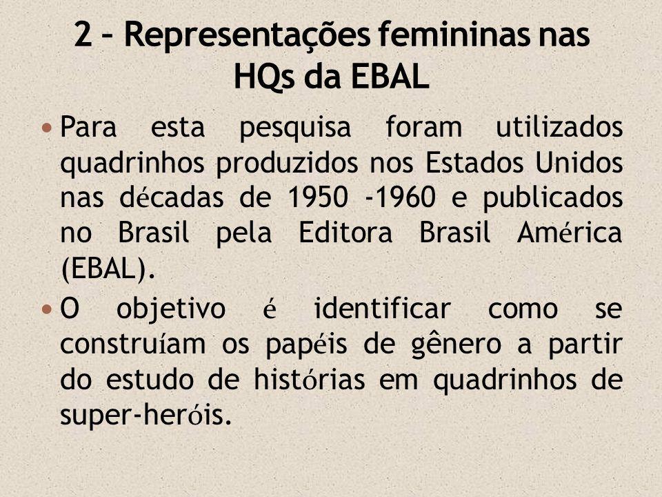 Para esta pesquisa foram utilizados quadrinhos produzidos nos Estados Unidos nas d é cadas de 1950 -1960 e publicados no Brasil pela Editora Brasil Am
