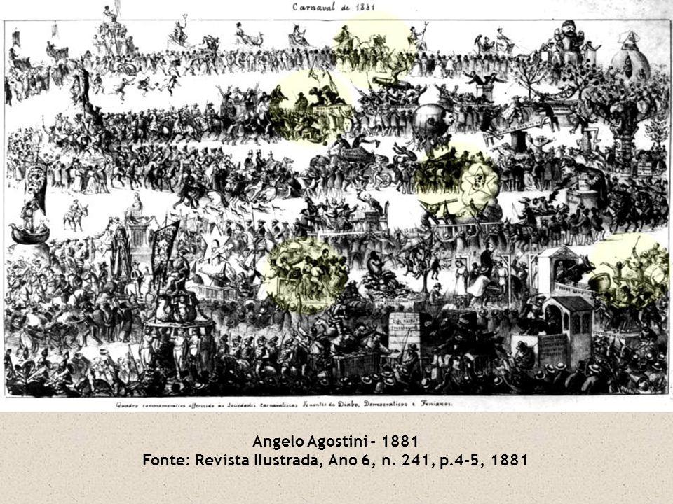 Angelo Agostini - 1881 Fonte: Revista Ilustrada, Ano 6, n. 241, p.4-5, 1881