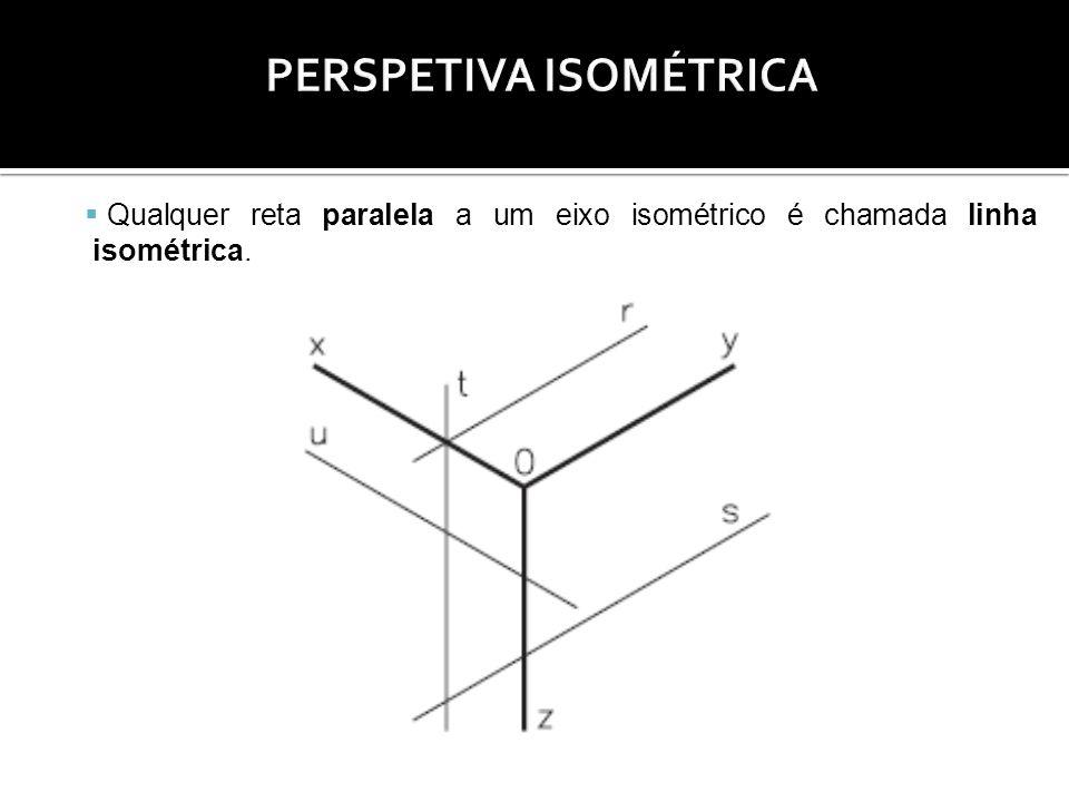 Qualquer reta paralela a um eixo isométrico é chamada linha isométrica.