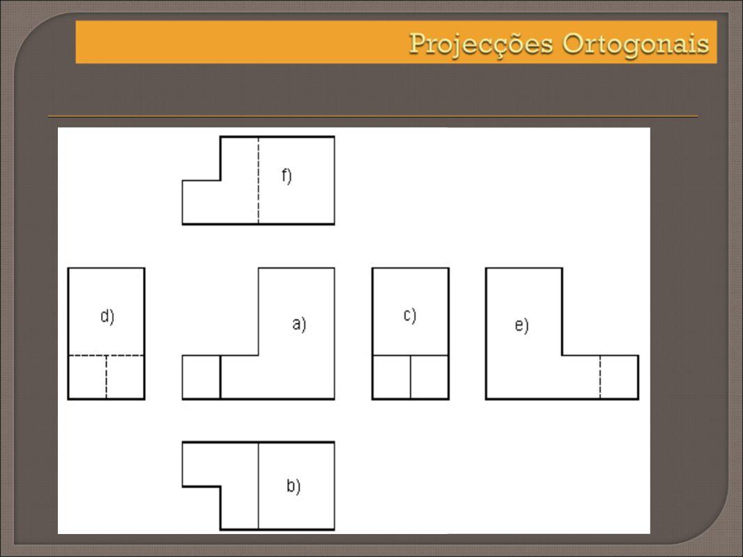 A introdução de planos de projecção poderão ser no máximo seis – 4 verticais e dois horizontais. Chama-se a este método Cubo Envolvente.