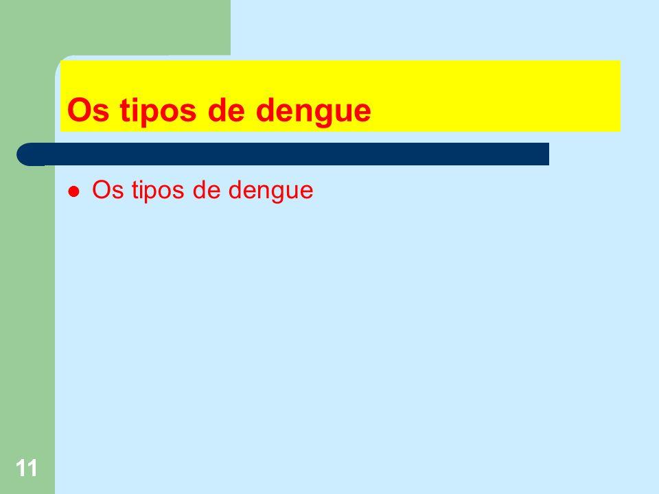 11 Os tipos de dengue