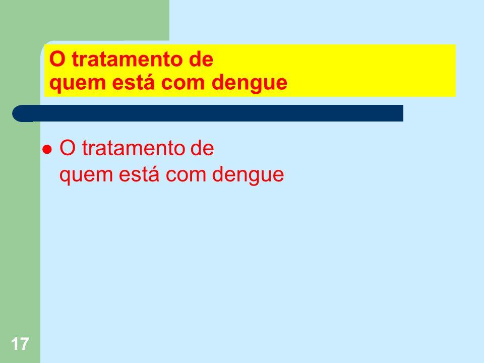 17 O tratamento de quem está com dengue