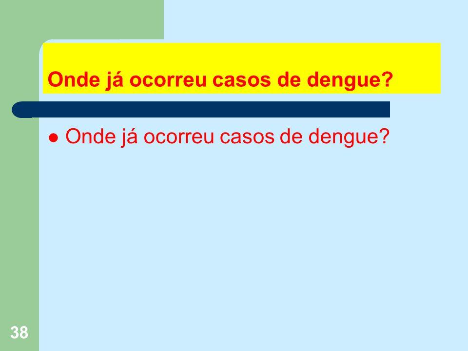 38 Onde já ocorreu casos de dengue