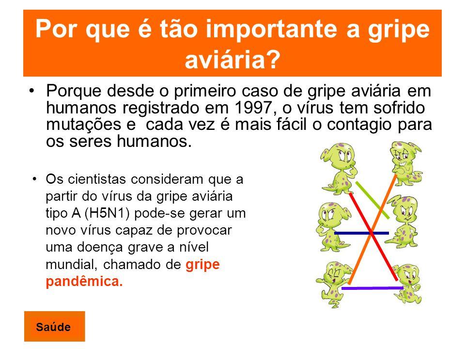 Por que é tão importante a gripe aviária? Porque desde o primeiro caso de gripe aviária em humanos registrado em 1997, o vírus tem sofrido mutações e