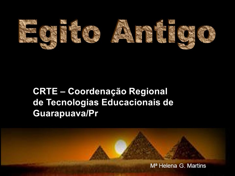 CRTE – Coordenação Regional de Tecnologias Educacionais de Guarapuava/Pr Mª Helena G. Martins
