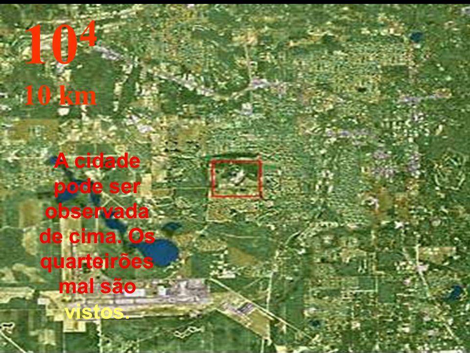Aqui mudamos de metro para km, e já é possível saltar de pára-quedas... 10 3 1 km