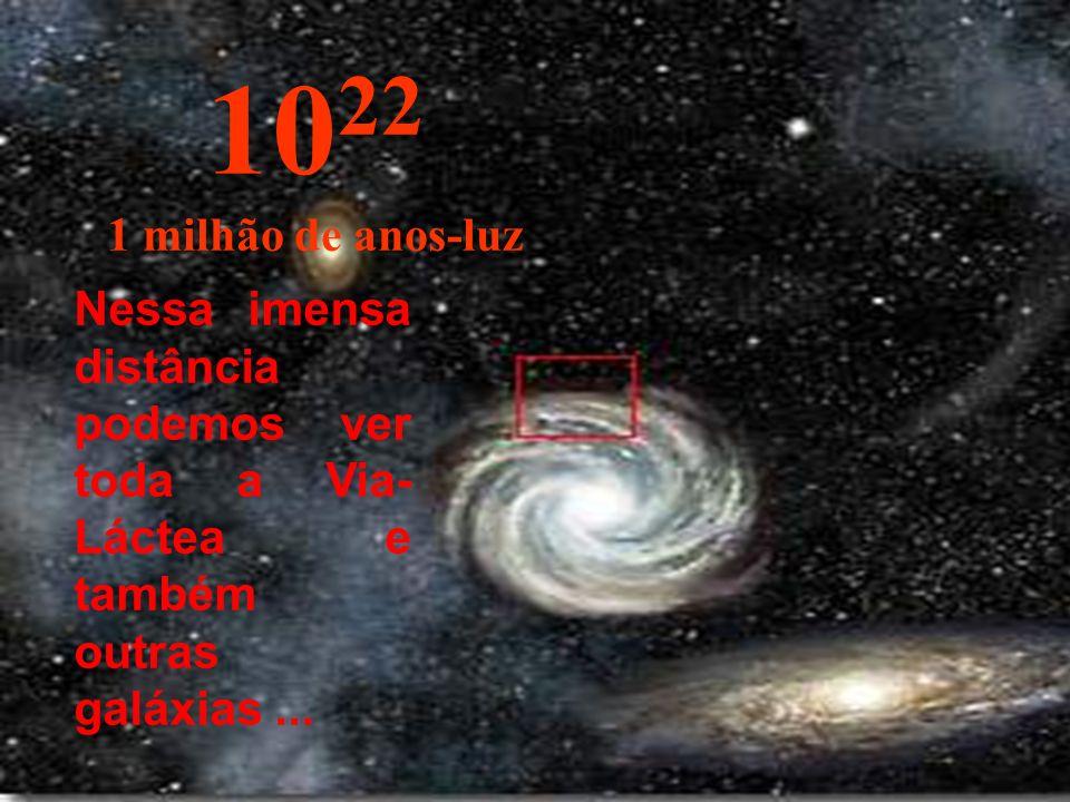 Agora chegamos na periferia da nossa Via-Láctea. 10 21 100.000 anos-luz
