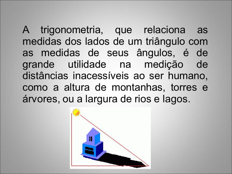 Hiparco ficou conhecido como pai da Trigonometria, por ter estudado e sistematizado algumas relações entre os elementos de um triângulo.
