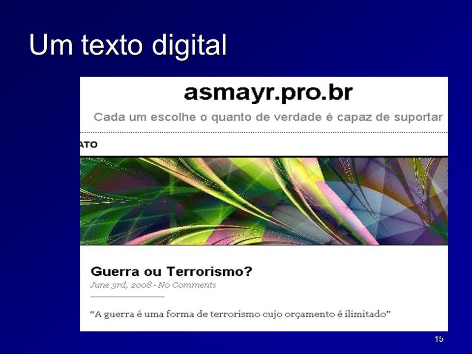 15 Um texto digital