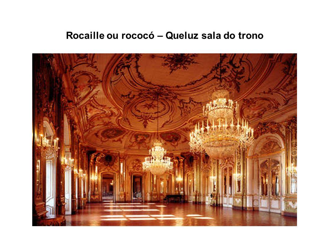 Rocaille ou rococó – Queluz sala do trono