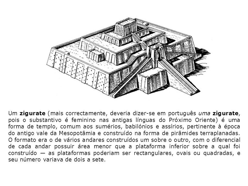 O centro do zigurate era feito de tijolos cozidos ao sol, enquanto o exterior da construção mostrava adornos de tijolos queimados.