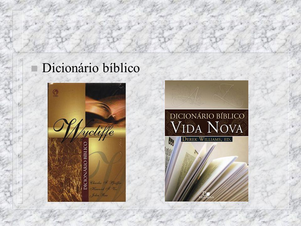 n Dicionário bíblico