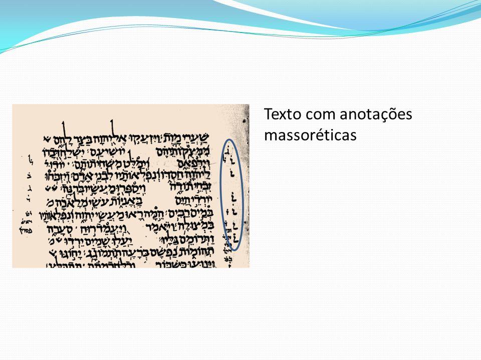 Texto com anotações massoréticas