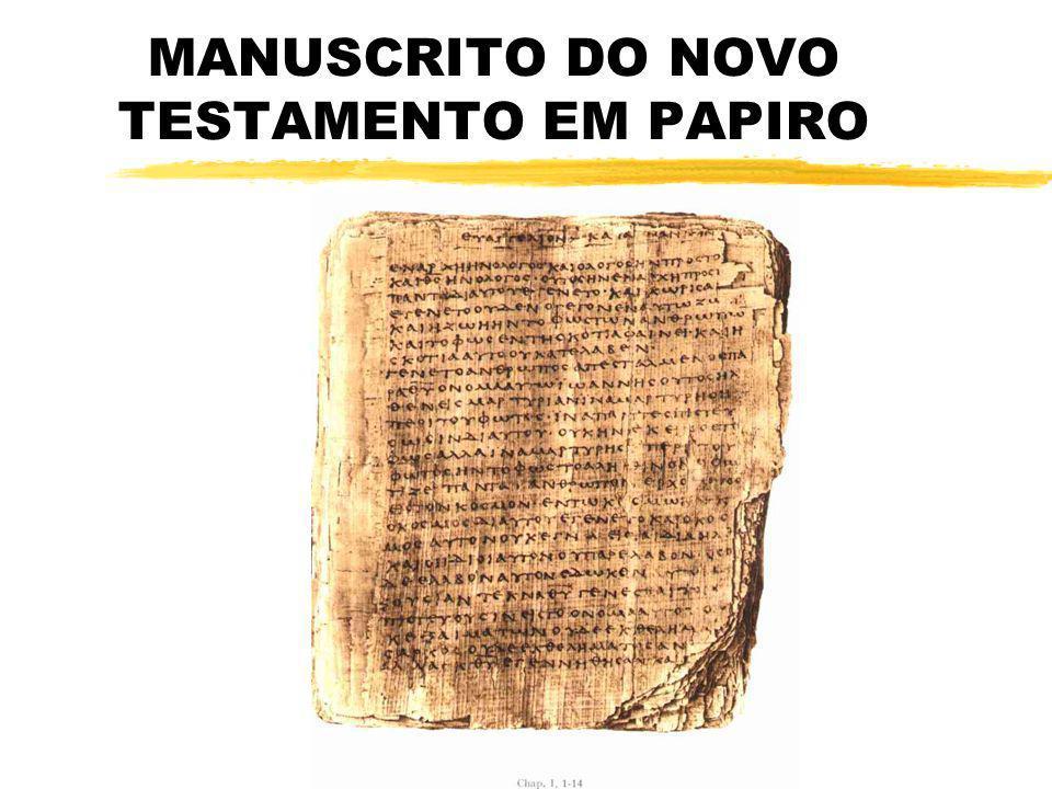 MANUSCRITO DO NOVO TESTAMENTO EM PAPIRO