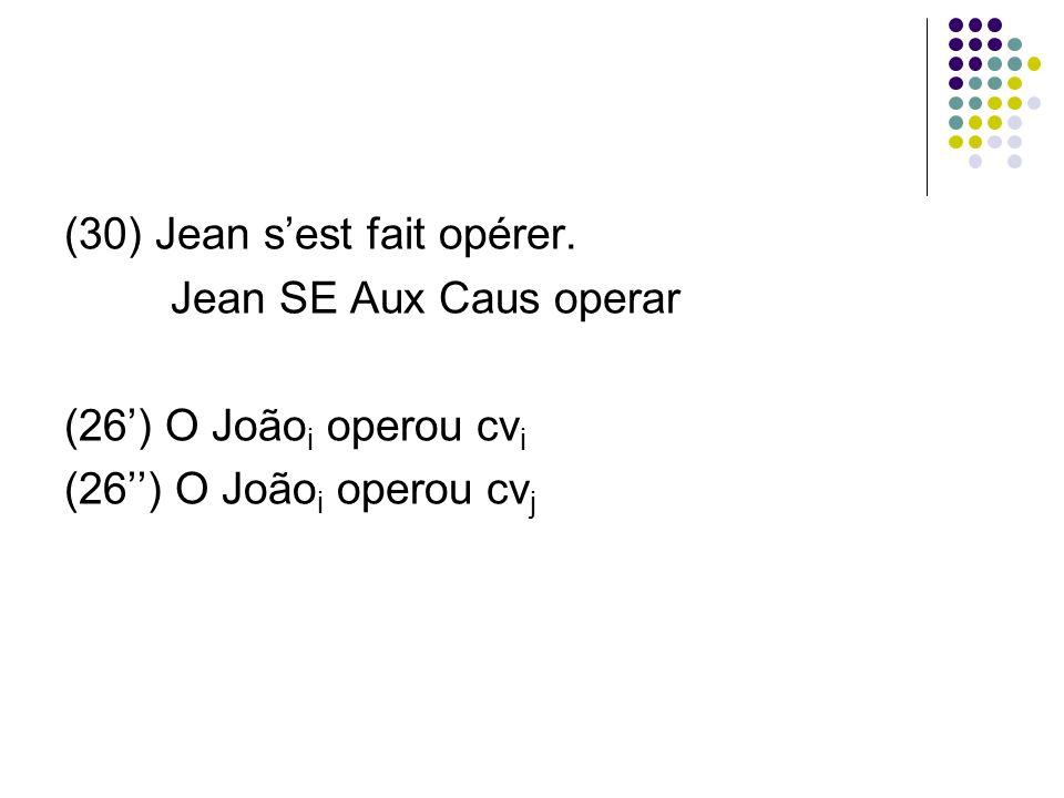 (30) Jean sest fait opérer.