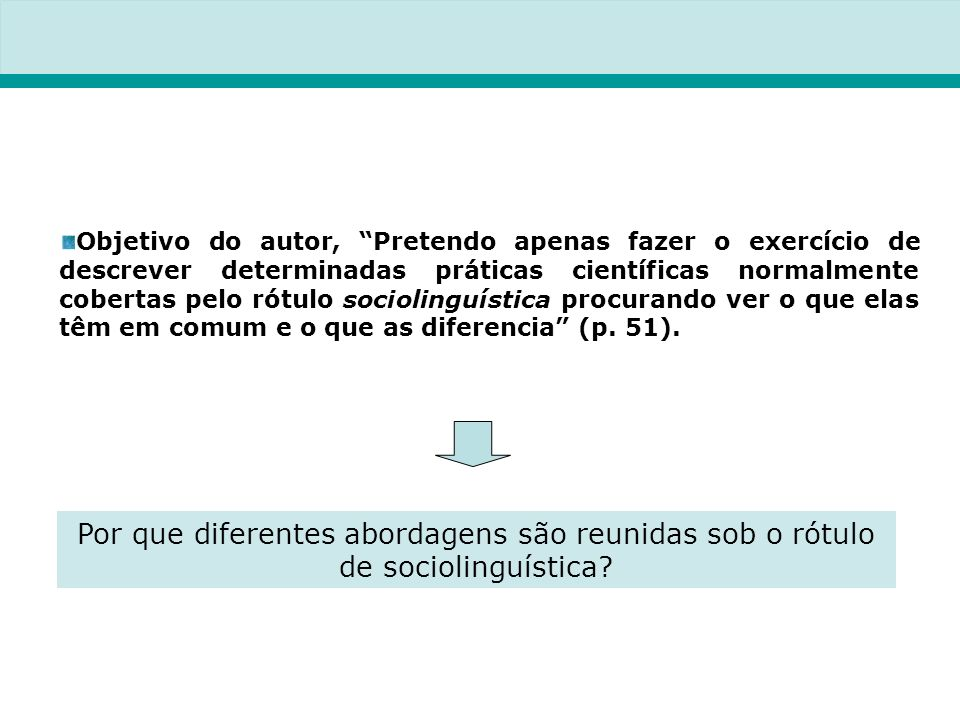 Por que diferentes abordagens são reunidas sob o rótulo de sociolinguística.