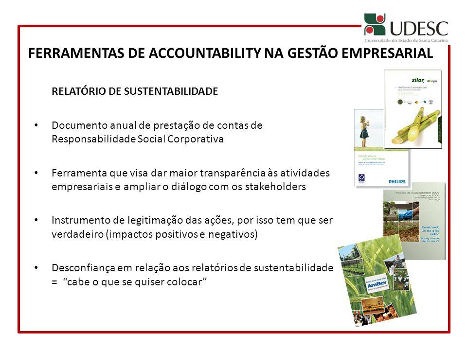 RELATÓRIO DE SUSTENTABILIDADE Documento anual de prestação de contas de Responsabilidade Social Corporativa Ferramenta que visa dar maior transparênci