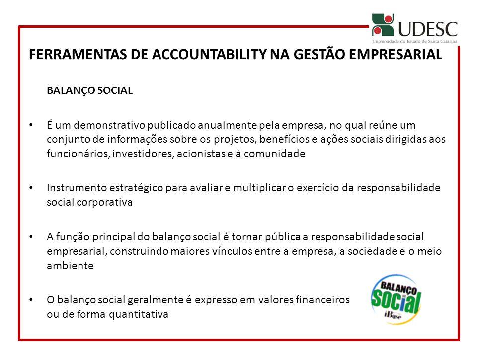CONCLUSÃO A accountability deve ser vista pelas empresas mais como uma oportunidade de relacionamento do que como um risco de transparência ou necessidade de prestação de contas.